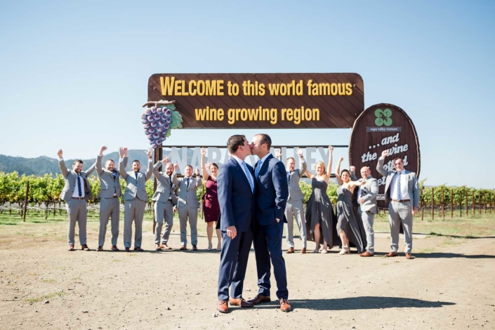 A Perfect Wine Country Wedding for Him & Him - Brian & Jon at Tyge Williams Cellars by Sharon Burns, Napa Valley Custom Events
