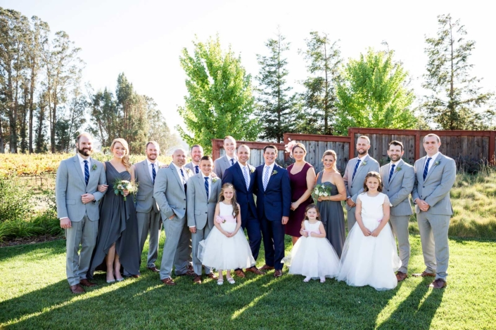 The Wedding Party - Brian & Jon at Tyge Williams Cellars by Sharon Burns, Napa Valley Custom Events