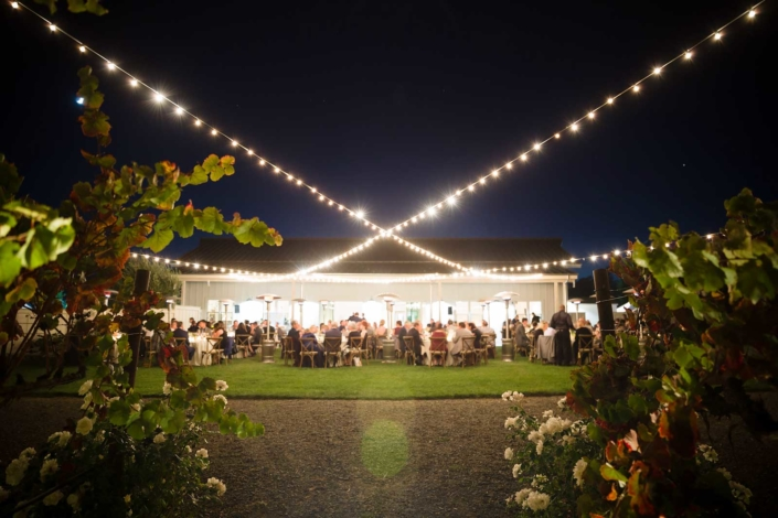 Under the stars - Brian & Jon at Tyge Williams Cellars by Sharon Burns, Napa Valley Custom Events