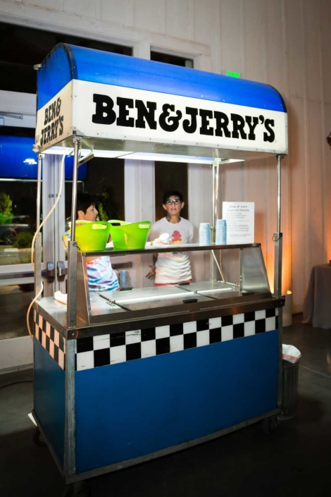 Ice Cream by Ben & Jerry's - Brian & Jon at Tyge Williams Cellars by Sharon Burns, Napa Valley Custom Events