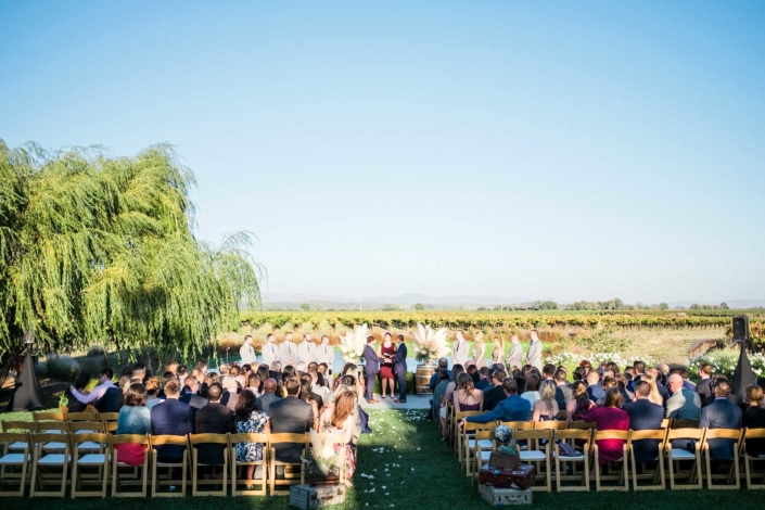 Ceremony by the Vineyards in Carneros - Brian & Jon at Tyge Williams Cellars by Sharon Burns, Napa Valley Custom Events