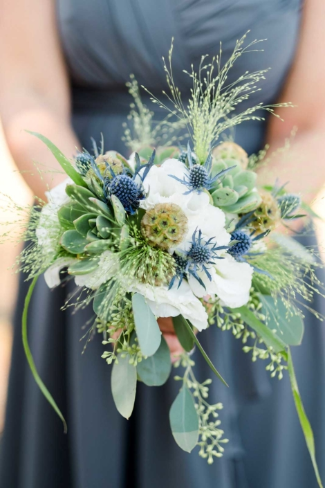 Brides Maid Bouquet - Brian & Jon at Tyge Williams Cellars by Sharon Burns, Napa Valley Custom Events