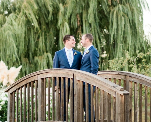 On the Love Bridge - Brian & Jon at Tyge Williams Cellars by Sharon Burns, Napa Valley Custom Events