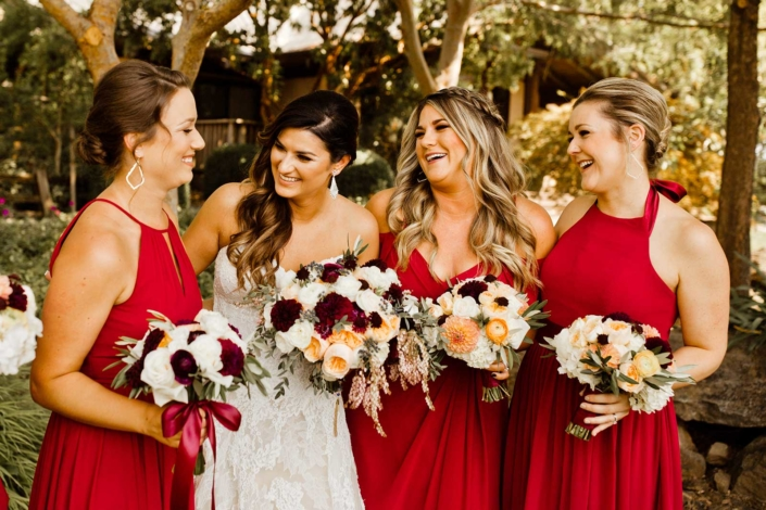 The girls are ready to help Brie down the aisle - Brie & Tyler at Arista Winery, Healdsburg, by Sharon Burns, Napa Valley Custom Events